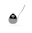 funny animal in the ladle vector image vector image