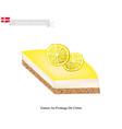 gateau au fromage de citron vector image