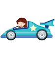 girl driving a car vector image vector image