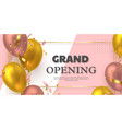 grand opening ceremony banner vector image