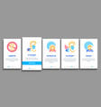 hearing human sense onboarding elements icons set vector image vector image