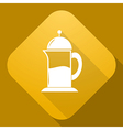 icon of Teapot with a long shadow vector image vector image