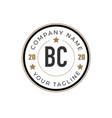 initial letter bc elegance logo design template vector image vector image
