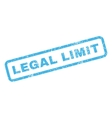 Legal Limit Rubber Stamp vector image vector image