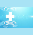 medical cross and technology digital hi tech vector image vector image