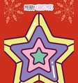 merry christmas celebration colored star vector image vector image