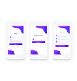 mobile ui kit sign up form sign in page set vector image vector image