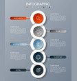 modern infographic fashion of five options vector image vector image