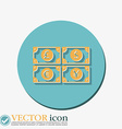 money bill symbol icon dollar pound sterling vector image vector image