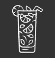 moxito chalk icon mojito cocktail in highball vector image