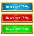 New year set vector image vector image