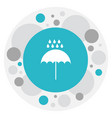 of weather symbol on monsoon vector image