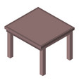 office table icon isometric style vector image