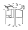 Parking toll booth icon in outline style isolated vector image vector image