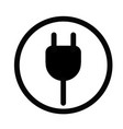 plug in icon on white background flat style plug vector image