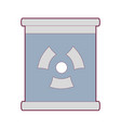 poster with radiation symbol of danger vector image vector image