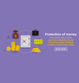 protection of money banner horizontal concept vector image