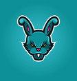 rabbit gaming logo vector image vector image