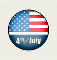 round sign with the silhouette of the us flag vector image
