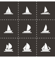 sailboat icon set vector image vector image