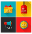 Sale and shopping advertising posters in flat vector image vector image