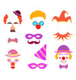 Scrapbook elements circus or party costumes and