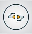 seatbelt icon colored line symbol premium quality vector image