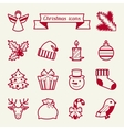 Set of Merry Christmas icons and objects vector image vector image