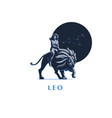 sign zodiac leo a woman is riding a lion vector image vector image