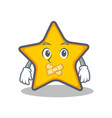 silent star character cartoon style vector image vector image