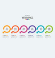 six steps timeline infographic template vector image vector image