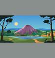 sleeping volcano travel destination vector image vector image