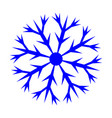 snowflake sign 3110 vector image vector image