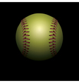 Softball on Black vector image vector image