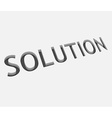 solution text design vector image vector image