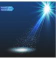 spotlight light effectscene illumination vector image vector image
