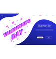 st valentines day - colorful isometric web vector image