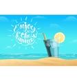summer lemonade in glass vector image vector image
