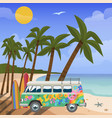 summer travel in tropics sea vector image