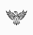 tribal eagle tattoo vector image vector image