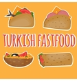 Turkish Fast food Traditional street food vector image