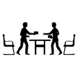 two businessmen make a deal vector image vector image