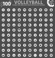 volleyball icons set vector image