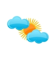 weather sun vector image vector image