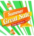 Web Banner sale summer vector image