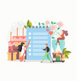 wedding planner services tiny people making vector image vector image