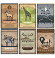 wild safari animals hunter club vector image vector image