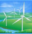 wind power energy vector image