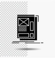 wire framing web layout development glyph icon on vector image vector image