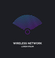 wireless network sign on dark background vector image vector image